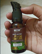 Buywow WOW Skin Science Anti Acne Face Serum - Natural Neem Leaf Oil, Tea Tree Oil, Caviar Lime Fruit Extract - Spot Therapy - No Parabens, Silicones & Fragrance - 30 ml Review