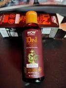 Buywow WOW Skin Science 10 in 1 Miracle Hair Oil - WITH COMB APPLICATOR - Cold Pressed - No Mineral Oil, Silicones & Synthetic Fragrance - 100 ml Review