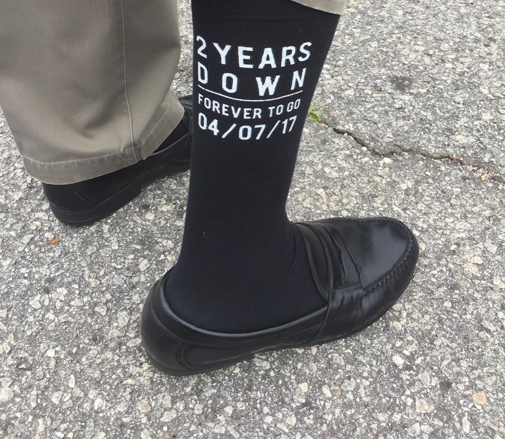 Anniversary Socks mens dress socks cotton two year anniversary gift husband gift second anniversary gift embroidered socks