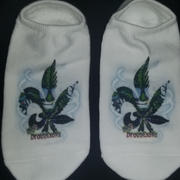 sockprints Customized Socks - Design Your Own MEDIUM 1/2 Cushion White No Show Socks Review