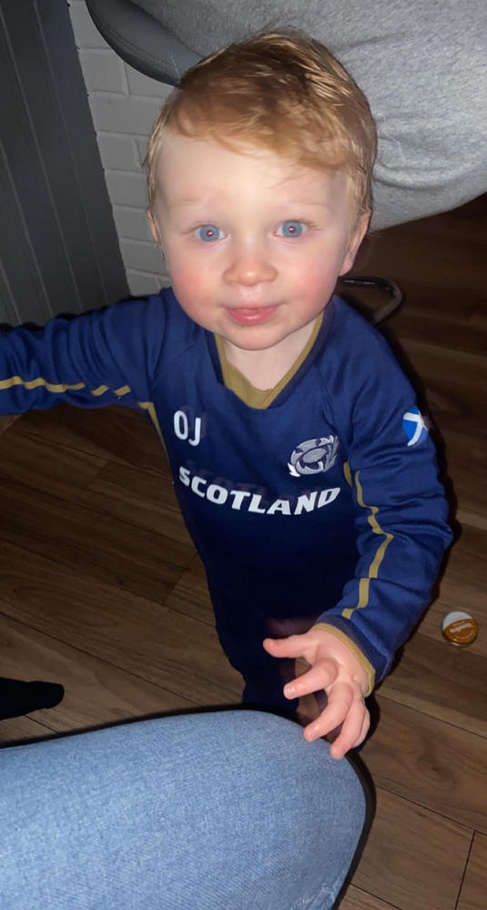 Scotland Scotland rugby Baby Grow je peut vivre en Angleterre mais sur Game Day..