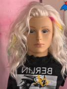 HairArt Int'l Inc. Bianca Platinum Blonde Human Hair Mannequin for color deposit - 15 inch hair Review