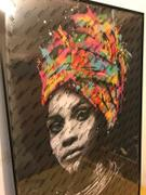 ELEartwall Graffiti Canvas Print, African Woman Review
