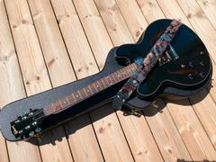 Steyner Straps Vintage Gitarrengurt blau - Tropical Ocean Review