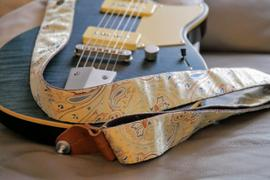 Steyner Straps Paisley Gitarrengurt beige – Indian Ginger Review