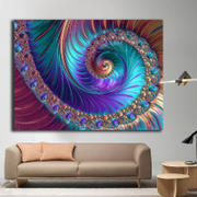 Enjoy Canvas 1 Panel Large Abstract Fractal Patterns Wall Art Review
