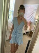 Pink & Flare Taly V-Neck Light Blue Mini Dress Review