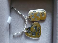 Hand on Heart Jewellery  Handprint Or Footprint Dog Tag Necklace, One Print And One Name Review