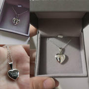 Hand on Heart Jewellery  Engraved Handprint Or Footprint Locket, Two Prints Review