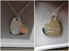 Hand on Heart Jewellery  Fingerprint Large Heart Necklace, One Print Review