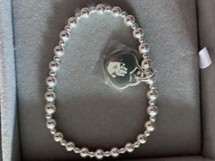 Hand on Heart Jewellery  Handprint Or Footprint Silver Bead Bracelet, Two Charms Review