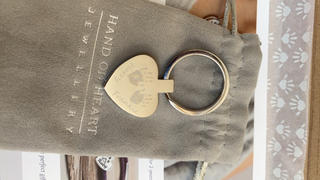 Hand on Heart Jewellery  Handprint Or Footprint Heart Keyring, Two Prints And Two Names Review