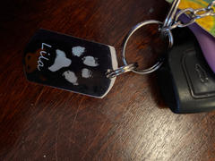 Hand on Heart Jewellery  Pawprint Keyring, One Print And Name Review