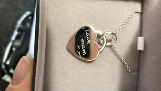 Hand on Heart Jewellery  Engraved Handwriting Heart Necklace Review