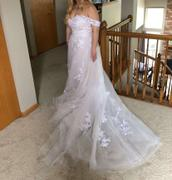 Mr. and Mrs. Tomorrow Dreamy Off Shoulder A-Line Wedding Dress with Floral Applique Review