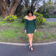 THATS SO FETCH Julia Knitted Dress - Emerald Review