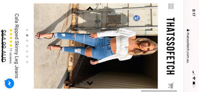 THATS SO FETCH Cala Ripped Skinny Leg Jeans Review
