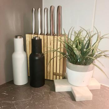 House of Knives Furi مراجعة مجموعة Teak & Rubberwood Knife Block 7 Pc