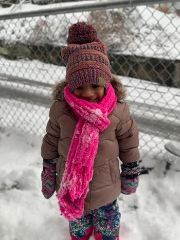 Beautifully Warm, LLC Satin Lined Winter Hats for Toddlers | Children | Orange Purple Mix Review