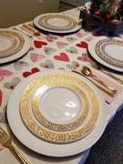 Smarty Had A Party! White with Pink and Gold Mosaic Rim Round Plastic Dinnerware Value Set Review