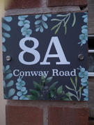 baliandboo Contemporary Floral Greenery Acrylic House Number Sign Review