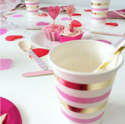 Illume Partyware Gold & Pink Stripe Cup - Pack of 10 Review