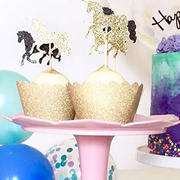 Illume Partyware Gold Glitter Cupcake Wrapper - Pack of 12 Review