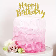 Illume Partyware Happy Birthday Gold Glitter Cake Topper - 1 Pce Review