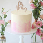 Illume Partyware Oh Baby Rose Gold Glitter Cake Topper - 1 Pce Review