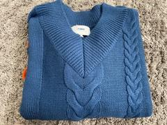 J.ING Big Blue Cable Knit Sweater Review