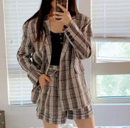 J.ING Ally Grey Checkered Shorts Review