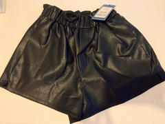 J.ING Daryll Black Smocked Leather Shorts Review