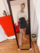 J.ING Gabe Black Side Zip Leather Mini Skirt Review