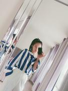 J.ING Stryker Silky Blue Striped Blouse Review