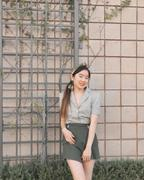 J.ING Nadia Crop Short Sleeve Button-Up Review
