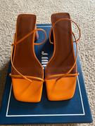 J.ING Iviana Orange Square Toe Sandals Review