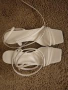 J.ING Gallant White Bulbous Heel Sandals Review