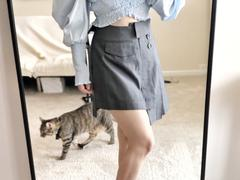 J.ING Jilted Grey Asymmetrical Mini Skort Review