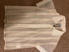 J.ING Colette Cream Sheer Ruffle Trim Blouse Review