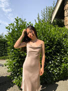 J.ING Champagne Gold Midi Slip Dress Review