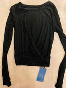 J.ING Carbon Black Cross Front Long Sleeve Top Review