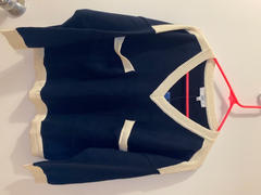 J.ING Maura Navy Colorblock Sweater Review
