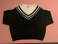 J.ING Varsity Black Mixed Sweater Review