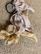 J.ING Beige Sheer Bow Scrunchie Review