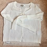 J.ING Cozy White Ribbed Cardigan Review