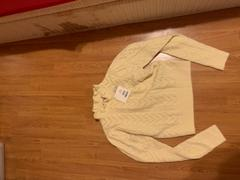 J.ING Rosie Ivory Cable Knit Sweater Review