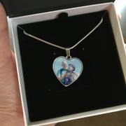WonderSpark Personalized Photo MEMORIAL Heart Necklace Review