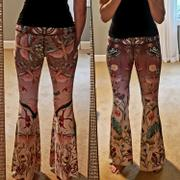 Yoga Democracy Pretty In Pink Printed Bell Bottoms Review