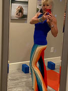 Yoga Democracy Retro Rainbow Printed Bell Bottoms Review