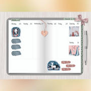 DigitallyWild Journaling stickers for Digital scrapbooking - Magic Forest Review
